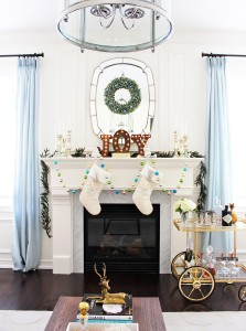 AM Dolce Vita Christmas Holiday Mantel Final
